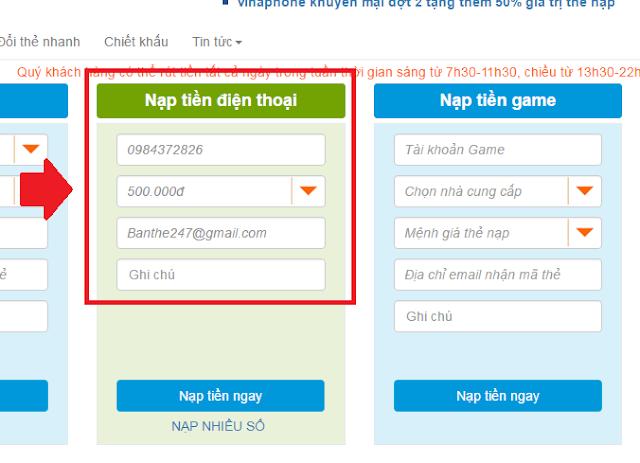 nap-the-viettel online