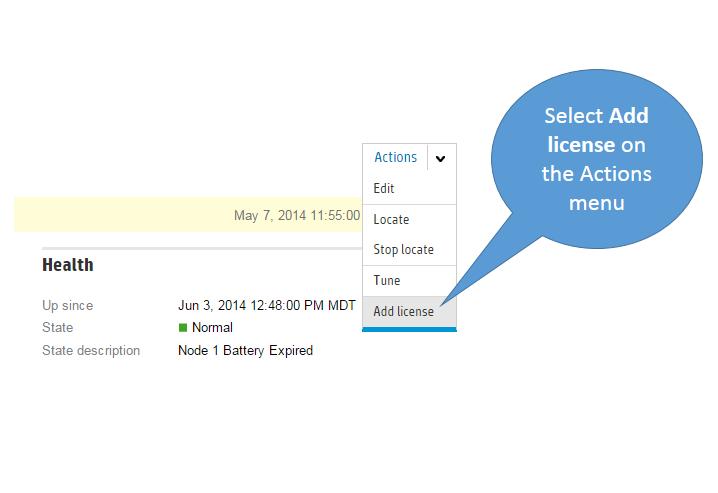 3PAR SSMC - Adding License  Admin Helpline