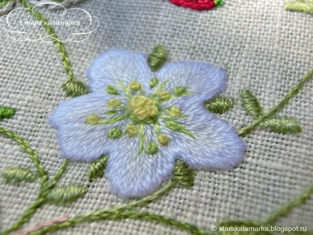 Sadako Totsuka, садако тоцука, тотцука, японская вышивка, лаконичная вышивка, Herb embroidery on linen