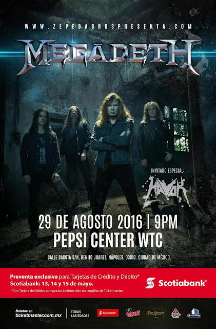 Megadeth en Pepsi Center WTC