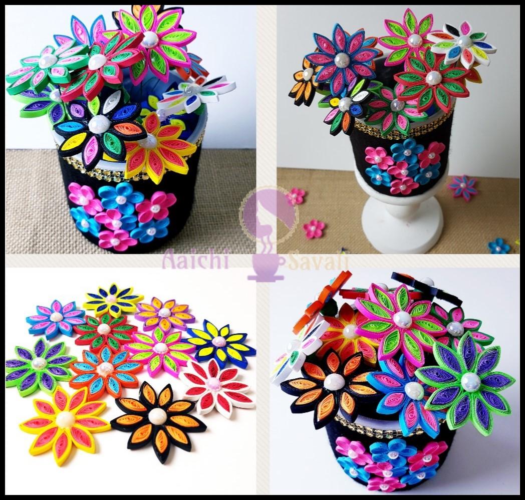 Decorative vase tutorials diy quilling flower vase - Decorative flower vase ...