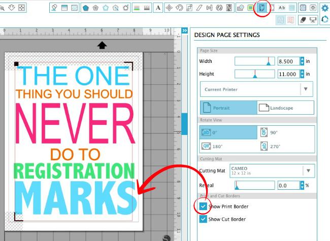 Silhouette Tutorial, Silhouette Print and Cut, Silhouette Cameo, print and cut, print and cut registration error