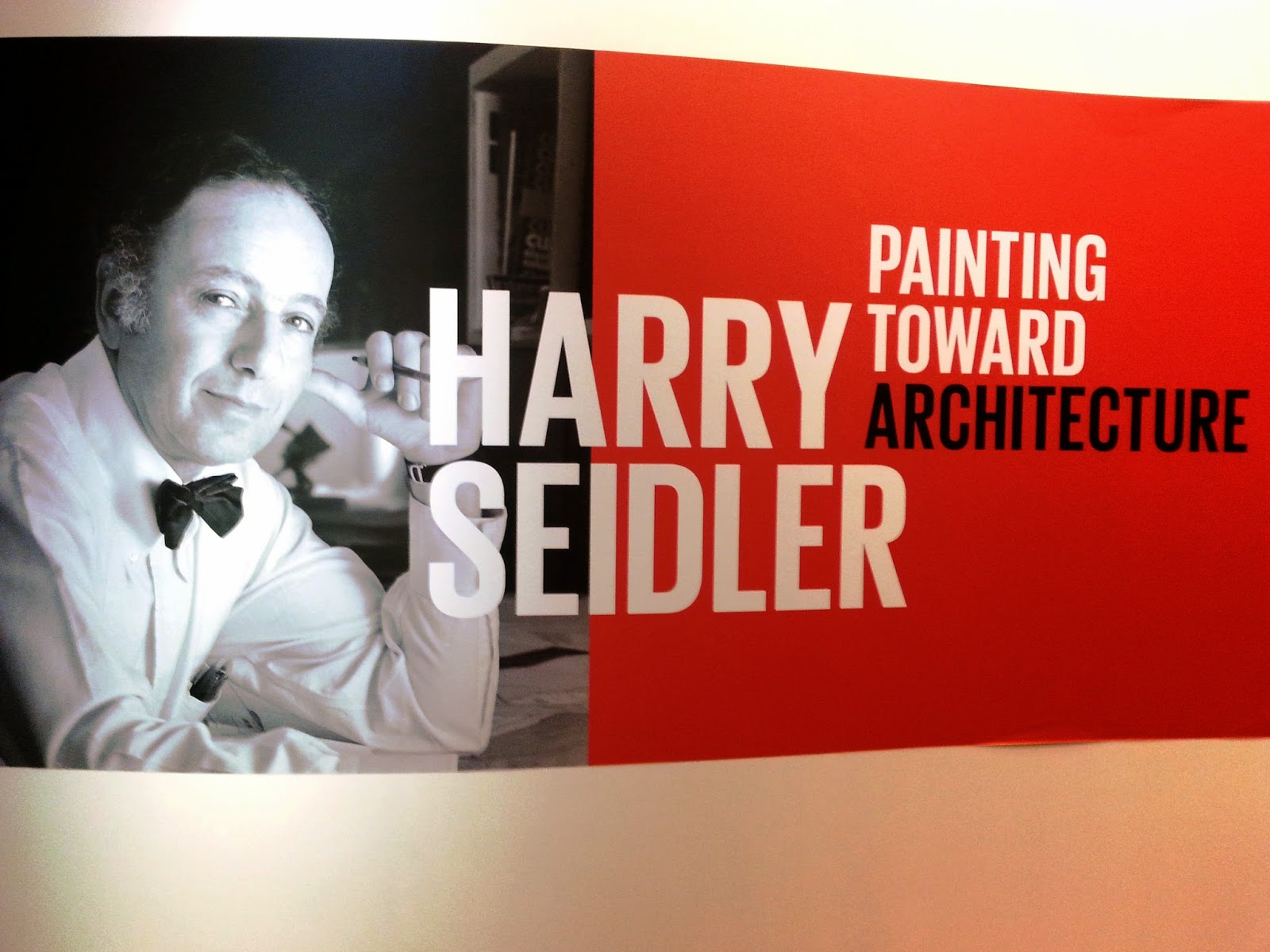 Entry sign for the Harry Seidler: Painting towards architecture exhibition.