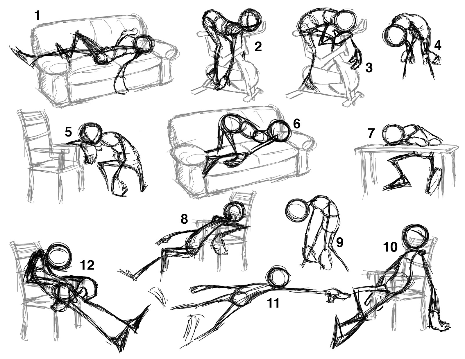 It is an image of Nerdy Anime Poses Drawing