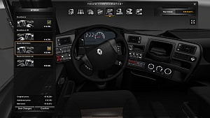 Renault Magnum black interior by Roadhunter