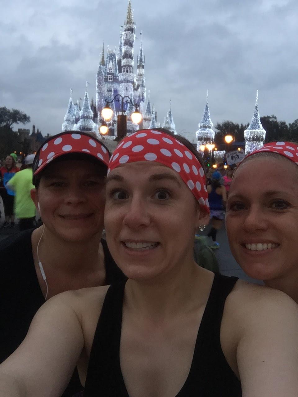 Dopey Challenge Mickey Marathon 2016 In front of Cinderella's castle