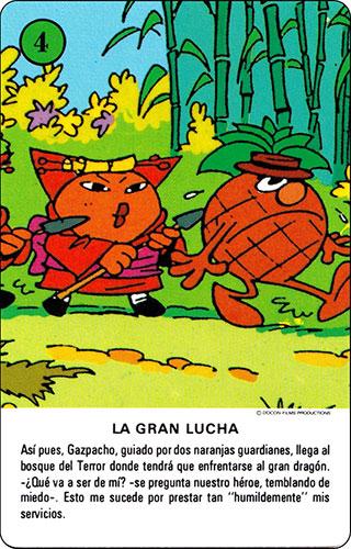 Baraja Los Fruittis Carta verde 4