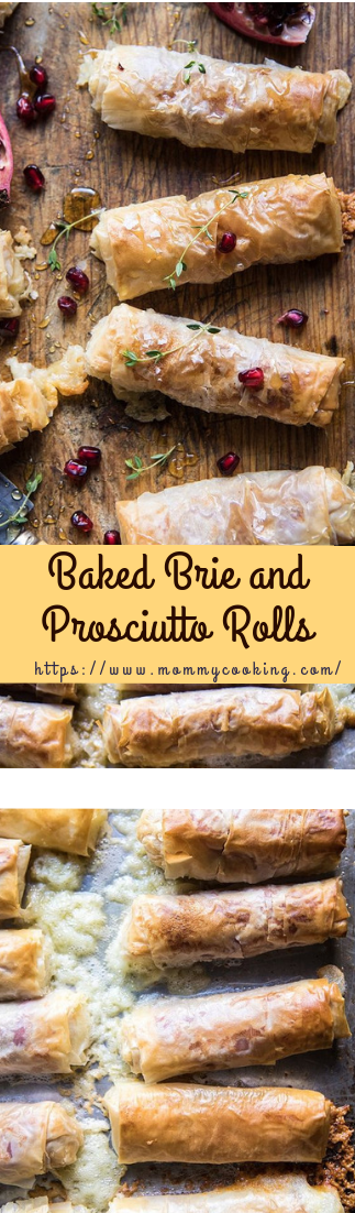 Baked Brie and Prosciutto Rolls #lunchidea #recipe