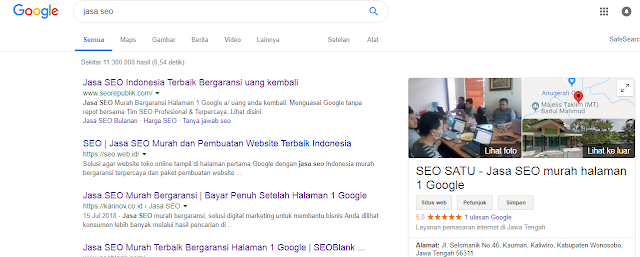 Cага Memilih Jasa SEO Indonesia