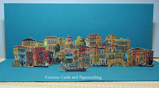 front view of Venice pop up card
