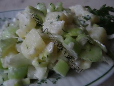 Sałatka z ziemniaków i selera naciowego