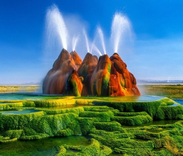 Fly Geyser, Nevada, AS