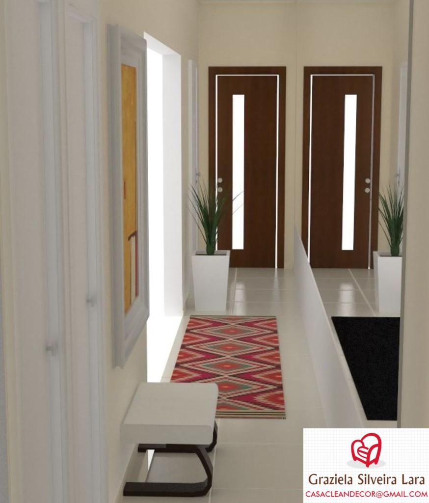 Pedras Artesanato Atacado ~ Construindo Minha Casa Clean Decoraç u00e3o de Corredor Estreito de Apartamento Consultoria 3D!