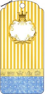 Para marcapáginas de Corona Dorada en Azul y Amarillo.
