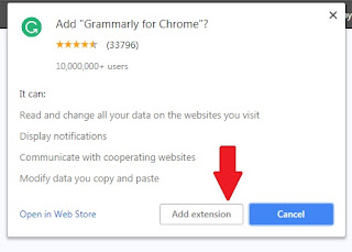 Grammarly extension to redeem Grammarly promo code