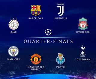 Jadwal & Daftar Klub Perempat Final Liga Champions