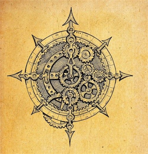 Steampunk Compass Tattoos For Women and Men