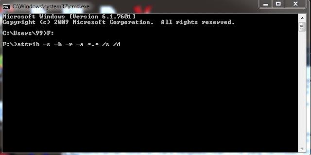 Cara Mengembalikan File yang terhidden diflashdisk tanpa aplikasi