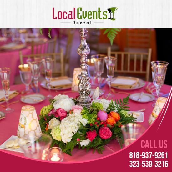 Local Wedding Rentals: Local Events Rental: Event Party Rentals Los Angeles