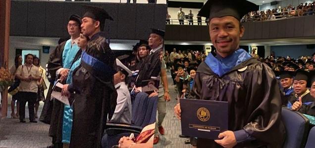 Senator Pacquiao, graduate na sa kolehiyo; planong kumuha ng masteral sa Harvard ~ Filipino Clip