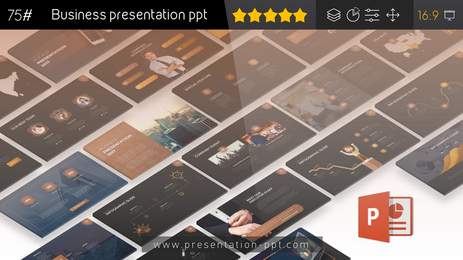 Business presentation powerpoint template free