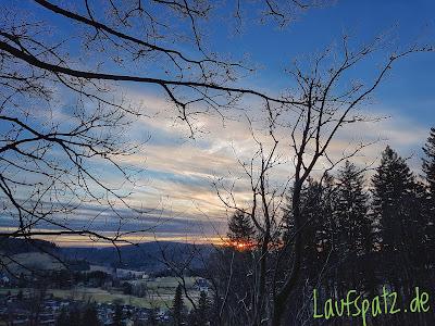 Sunset running Erzgebirge Laufen Sonnenuntergang