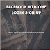 Facebook Welcome Login Sign Up
