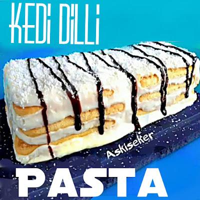 kedi dilli pasta tarifi nasıl yapılır kolay nefis videolu tatlı yemek tarifleri cake dessert recipe delicious yummy taste tasty