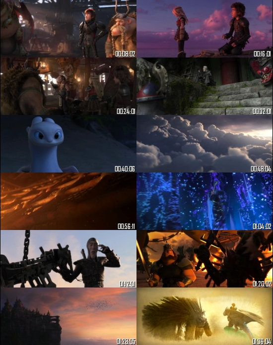How to Train Your Dragon 3 2019 BRRip 720p 480p Dual Audio Hindi English Full Movie Download