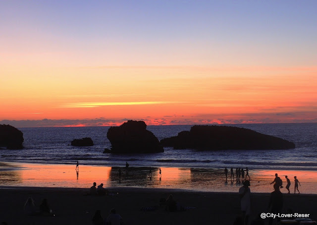 sunset in Biarritz