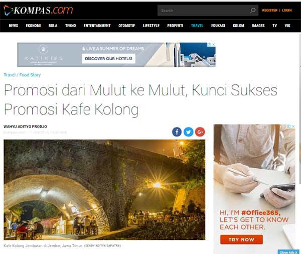 Promosi Kafe Kolong dari Mulut ke Mulut