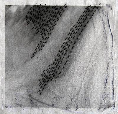 digital and handmade art, stitching