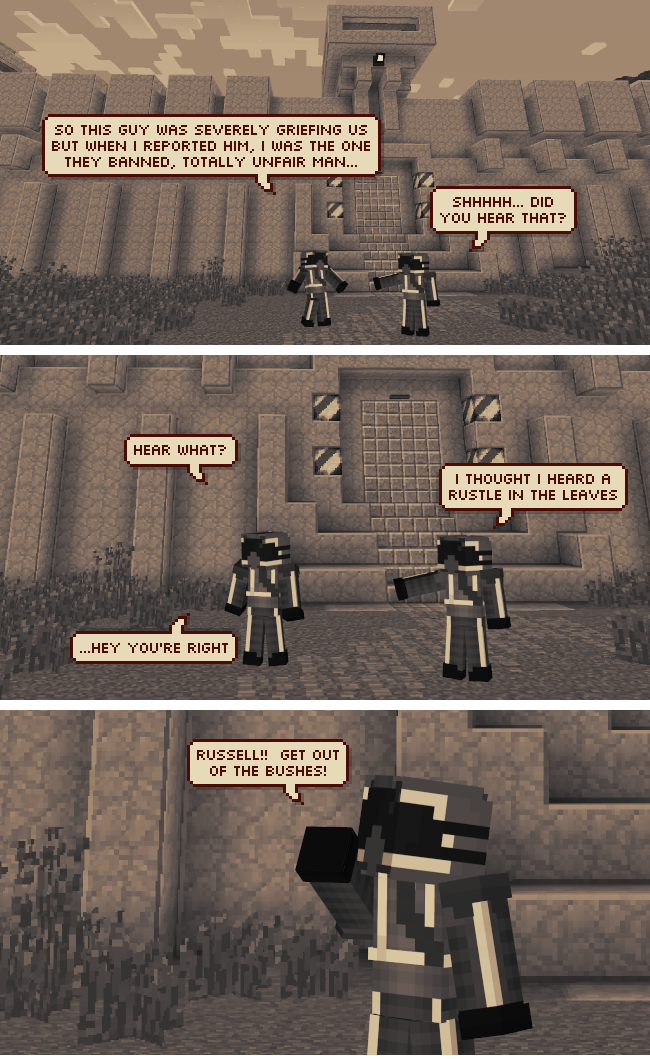 Greatest Minecraft web comic ever