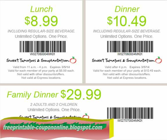How to use a Sweet Tomatoes coupon Sweet Tomatoes is a restaurant with locations primarily in the southern and western portions of the United States.