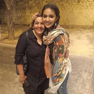 Keerthy Suresh with Cute and Lovely Smile at Shooting Spot
