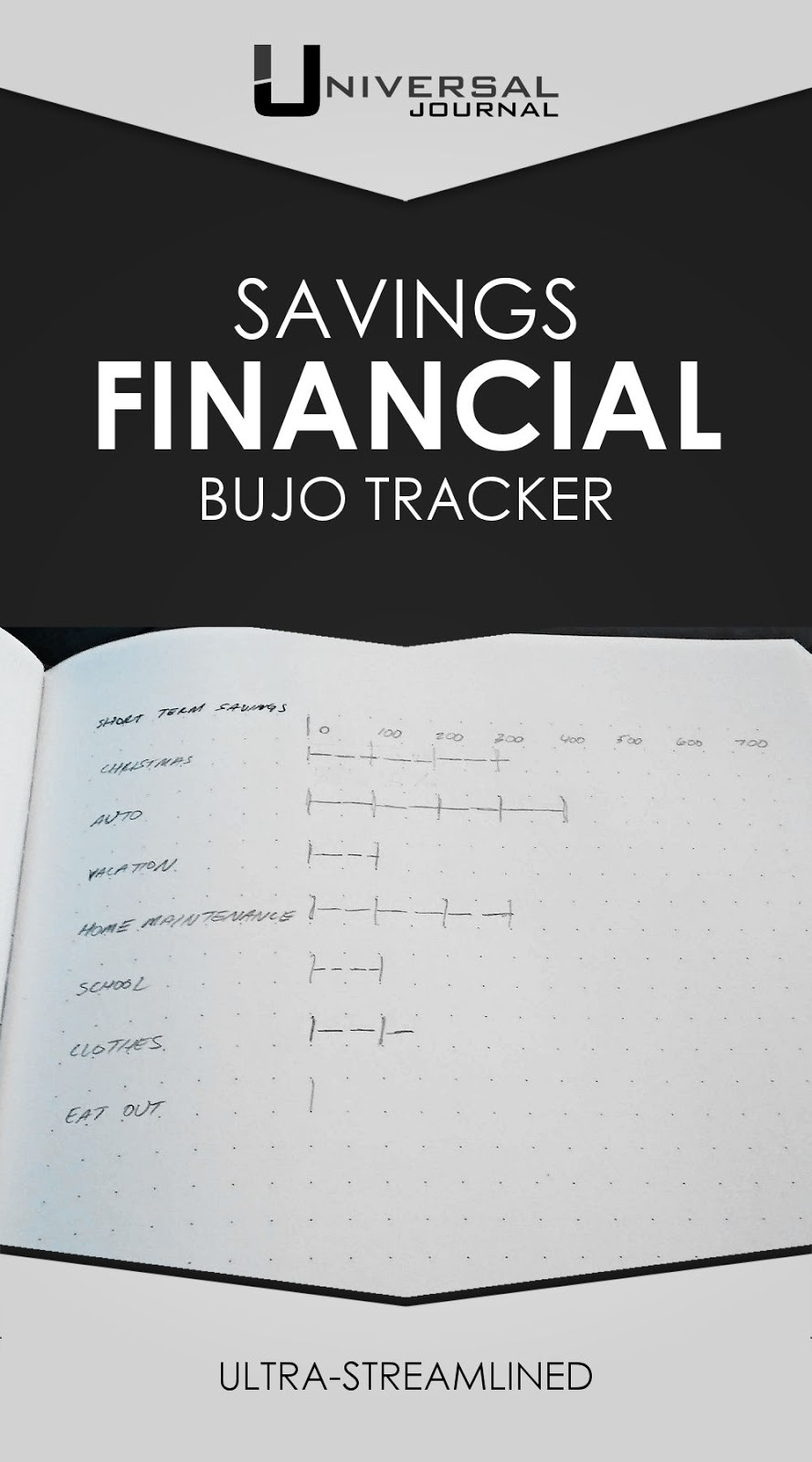 bullet journal minimalist savings bujo tracker