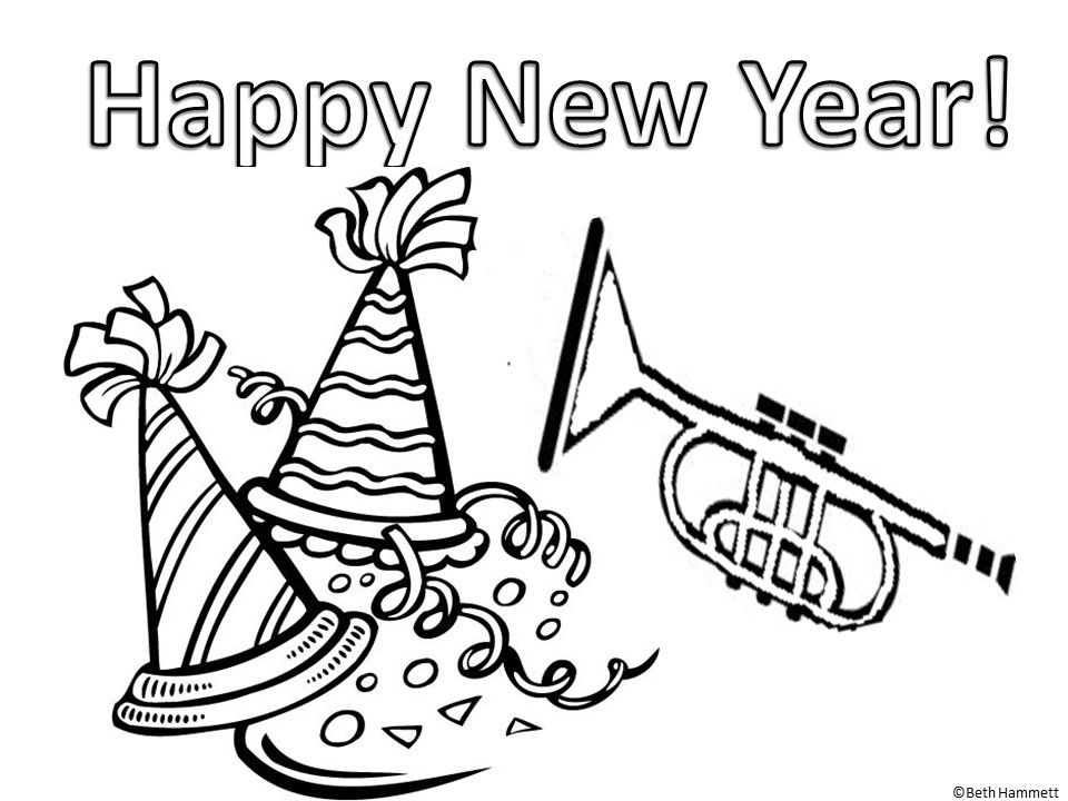happy new year coloring pages - education helper happy new year free coloring sheets