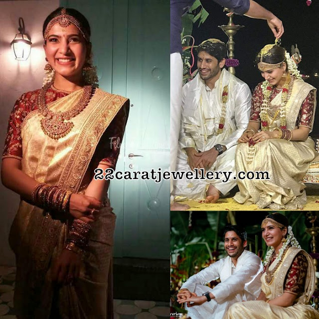 Samantha Rutu Prabhu Wedding Jewellery
