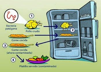 QSN: contaminación cruzada en el frigorífico