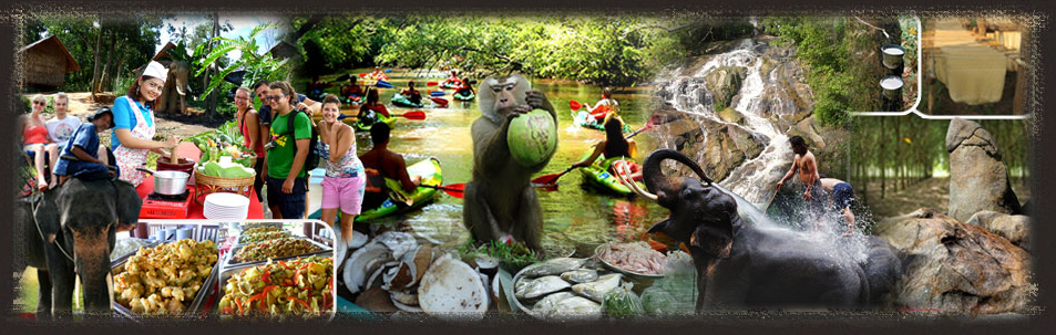 Eco Tour Koh Samui by Namuang Safari Park at Namuang Waterfall No.2 Koh Samui Excursion Eco Tour by
