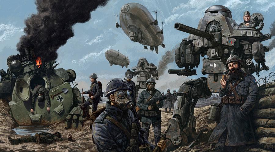 Primeira Guerra Mundial Versão Dieselpunk