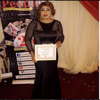 Endowed Actress, Ayo Adesanya Flaunts Her Laurel At The City People Awards