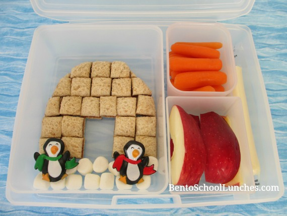 Igloo bento lunch. Fun Bites.