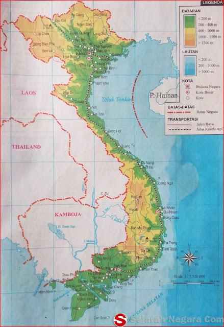 Gambar Peta Negara Vietnam 2018