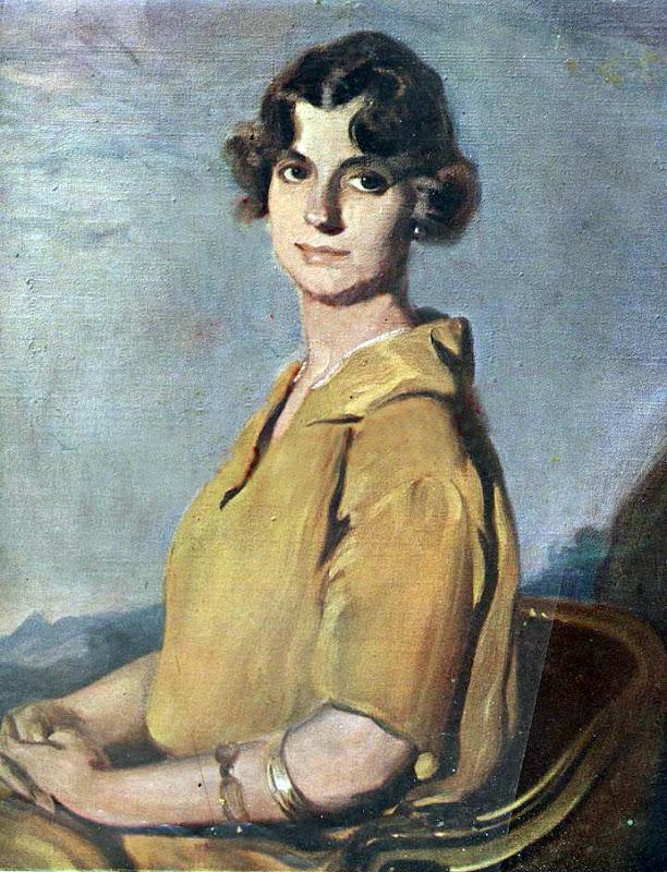 Victor Moya Calvo, Retrato de Señora, Pintor español, Pintores Valencianos, Retrato de azules, Retrato de andaluza, Retratos de Victor Moya Calvo