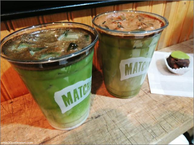 Matcha Cocoa $5.51 & Vanilla Almond Matcha Latte $5.05