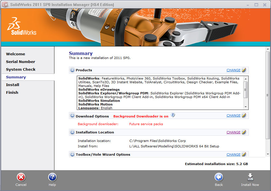 Installing SolidWorks 2011 for the First Time on windows 7