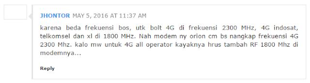 Kenapa Modem BOLT Orion Tidak Mendukung Jaringan 4G Setelah di Unlock?