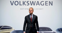 Herbert Diess, Volkswagen's new CEO, poses during the Volkswagen Group's annual general meeting in Berlin, Germany, May 3, 2018. (Photo Credit: Reuters ) Click to Enlarge.