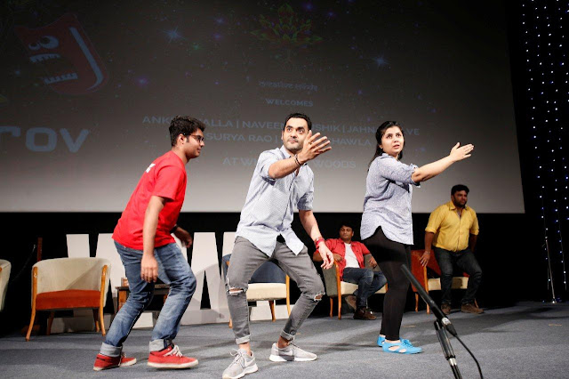 "PLAY AT THE TOP OF YOUR INTELLIGENCE,"" ADVISED JAHNAVI DAVE, MEMBER OF IMPROV COMEDY MUMBAI, TO THE STUDENTS OF WHISTLING WOODS INTERNATIONAL"